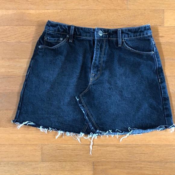 393c5ce2629 Forever 21 Skirts | Frayed Denim Mini Skirt | Poshmark